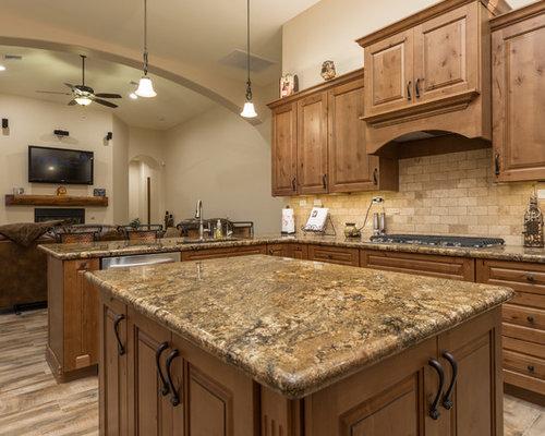 Terra cotta floor tile kitchen