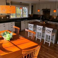 Transitional Kitchen by Jennifer Dussault at Carole Kitchen & Bath