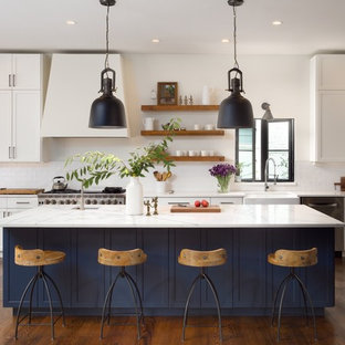 Transitional Kitchen Designs   Inspiration For A Transitional Galley Dark  Wood Floor And Brown Floor Kitchen