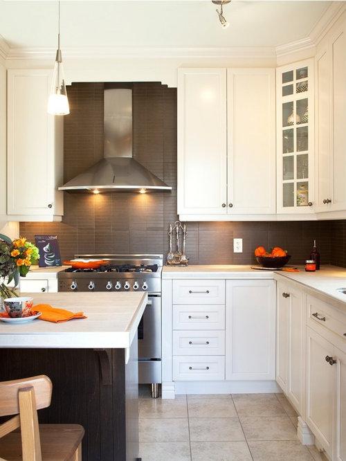 Armoires de cuisine classique, armoires en merisier teint et laqué ...