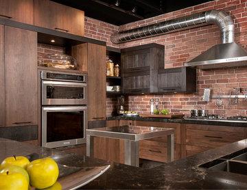 Armoires de cuisine style loft/industriel