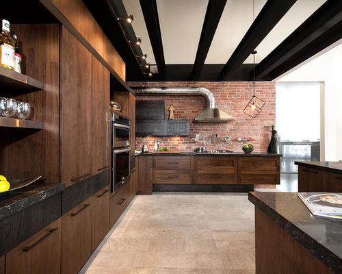 Armoires de cuisine style loft industriel - Armoire style industriel ...