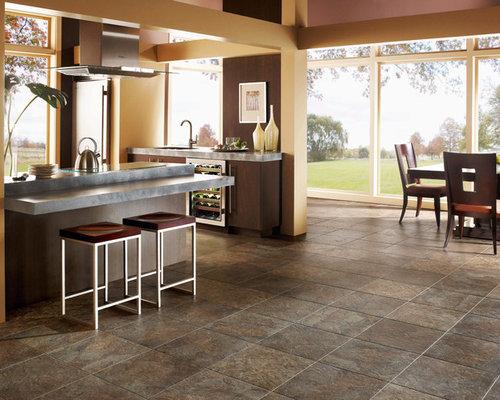 k chen mit edelstahl arbeitsplatte und vinylboden ideen. Black Bedroom Furniture Sets. Home Design Ideas