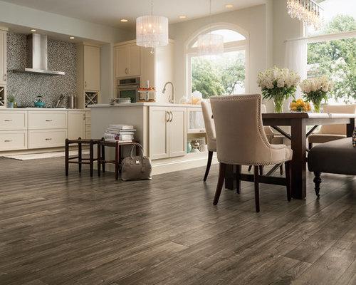 Cucina shabby-chic style con pavimento in laminato - Foto e Idee ...