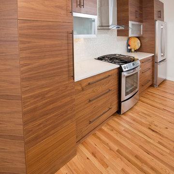 Arrowhead Remodel - Colorado Mountain Modern - Walnut & White Acrylic Cabinetry