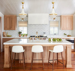 Natural Wood Vs White Cabinets In A Kitchen