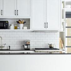 Industrial Kitchen by Lauren Rubin Architecture