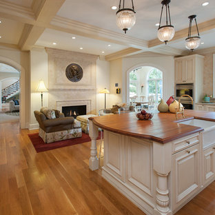 Traditional kitchen appliance - Kitchen - traditional kitchen idea in Philadelphia with a farmhouse sink and wood countertops
