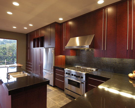 cherry cabinets kitchen | houzz