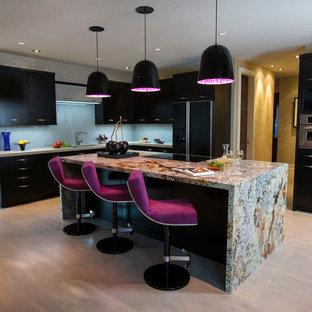Contemporary kitchen inspiration - Inspiration for a contemporary kitchen remodel in Minneapolis with granite countertops