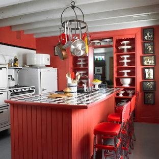 Artful Historic Home; vintage kitchen