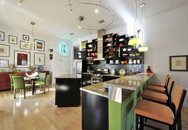 Eclectic Kitchen by Panache Interiors