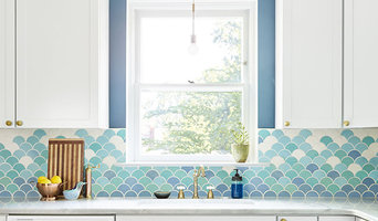 Artfully Bold Moroccan Fish Scale Kitchen