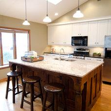 Eclectic Kitchen by Fonda Interior Design
