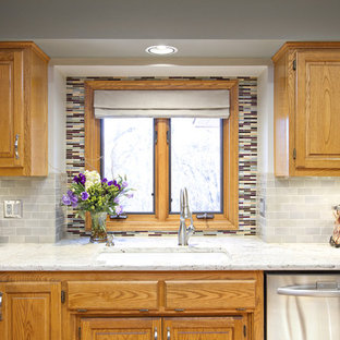 Oak Cabinet Backsplash Houzz