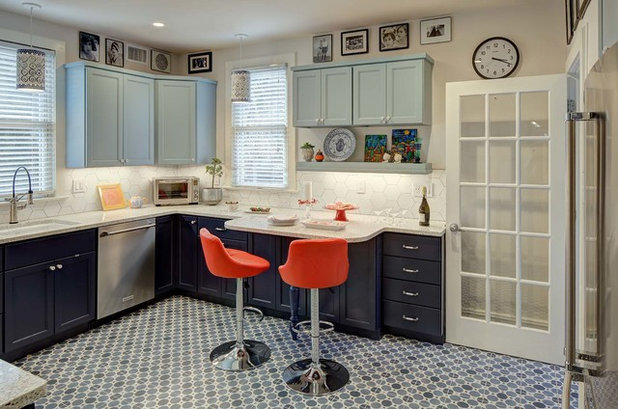Eclectic Kitchen by Tracey Stephens Interior Design Inc