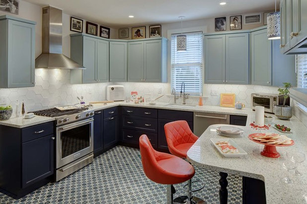 Transitional Kitchen by Tracey Stephens Interior Design Inc