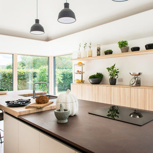 This is an example of a scandi kitchen in Gloucestershire.
