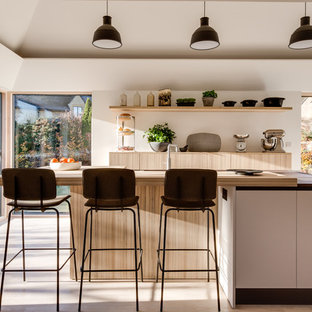 Midcentury Kitchen In Gloucestershire.