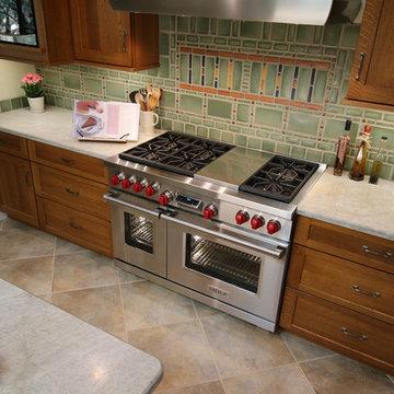 Arts and Crafts Kitchen Backsplash