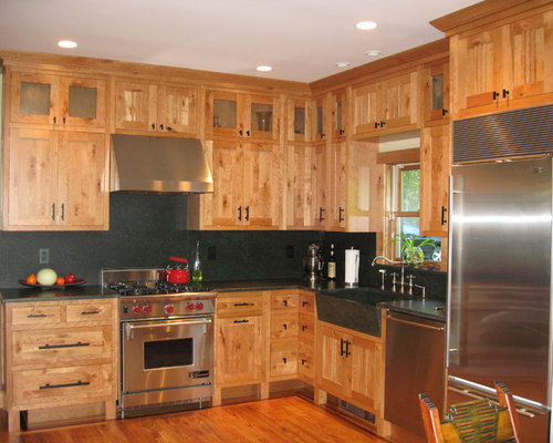 Rustic Cherry Cabinets Home Design Ideas, Pictures, Remodel and Decor