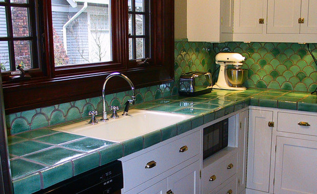 American Traditional Kitchen by Norberry Tile