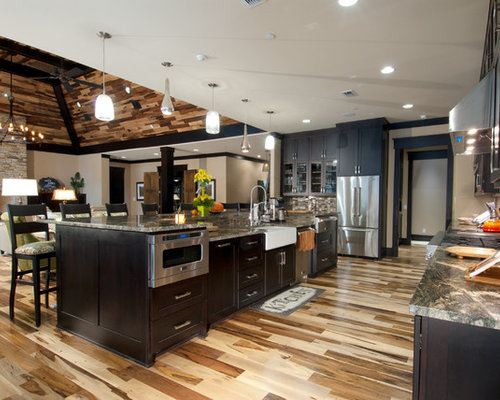 Arts and crafts galley kitchen design ideas renovations - Arts and crafts kitchen design ideas ...