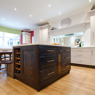 Arts and Crafts Style Kitchen with Contrasting Finishes