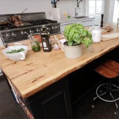 Ash live edge kitchen island for Live edge kitchen island