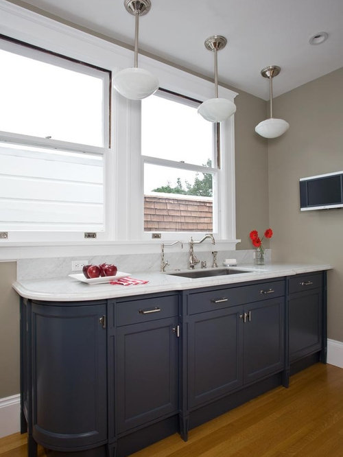 traditional kitchen idea in san francisco with an undermount sink cabinets and