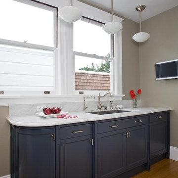 Ashbury Heights Victorian's Remodeled Kitchen