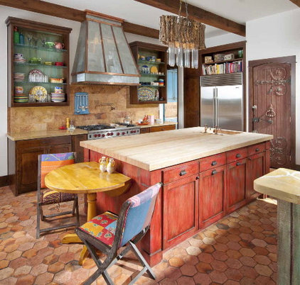 Southwestern Kitchen by Astleford Interiors, Inc.