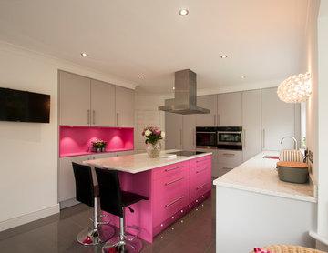 Ashtead, Minimal Pink & Grey Kitchen
