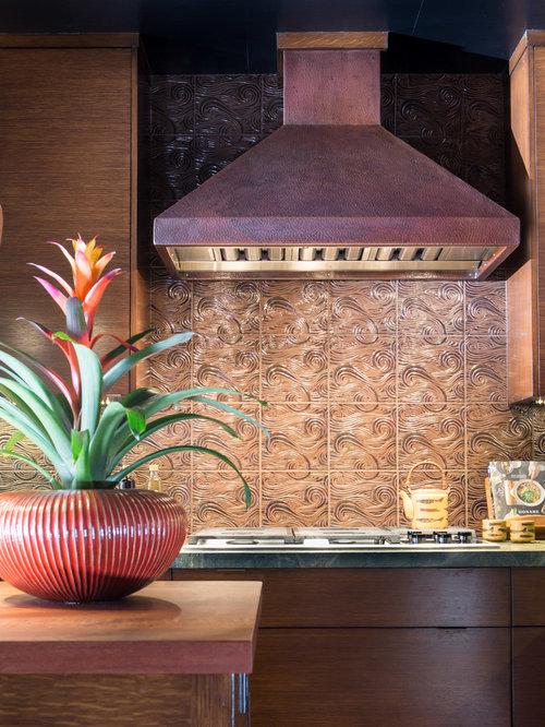 asiatische k che mit quarzit arbeitsplatte ideen bilder. Black Bedroom Furniture Sets. Home Design Ideas