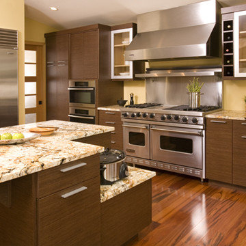 Asian style kitchen & cooking area
