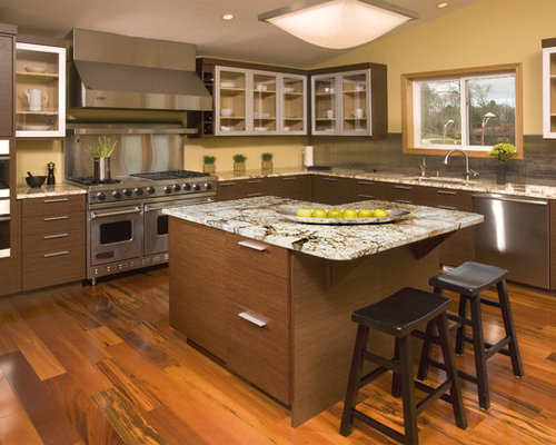 Asian style kitchens home design ideas pictures remodel for Japanese inspired kitchen design