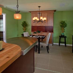 オレンジカウンティのアジアンスタイルのおしゃれなキッチンの写真