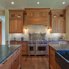 Traditional Kitchen by Kaegebein Fine Homebuilding