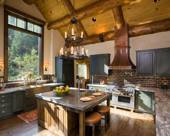 rustic kitchen backsplash | houzz