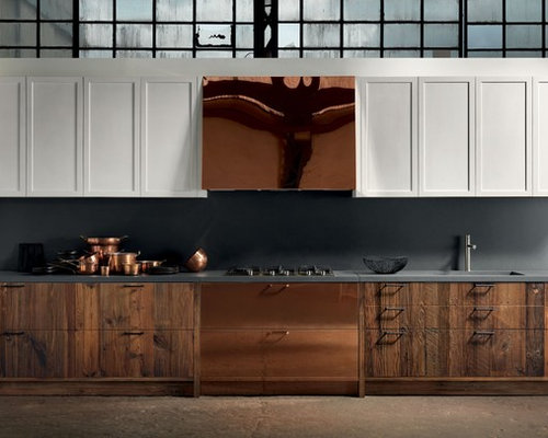Eat In Kitchen In New York With An Undermount Sink Shaker Cabinets