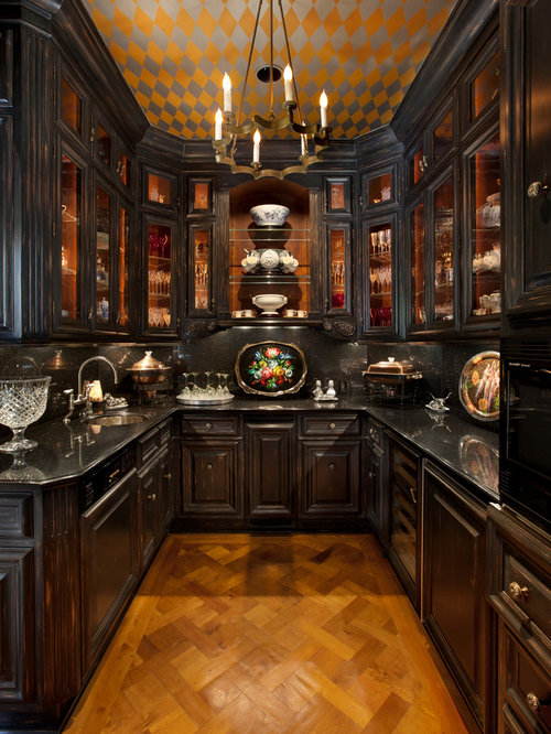 Black Distressed Cabinets Ideas, Pictures, Remodel and Decor