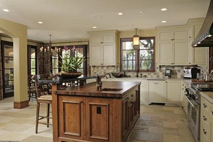 Mediterranean Kitchen by Amoroso Design