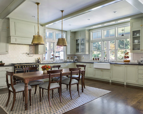 Kitchen Design Ideas Renovations Photos With Green Cabinets And