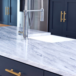 Atlanta Architect's Kitchen Featuring Locally Quarried White Cherokee US Marble