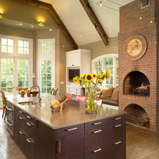 Transitional Kitchen by RAO Design Studio, Inc.