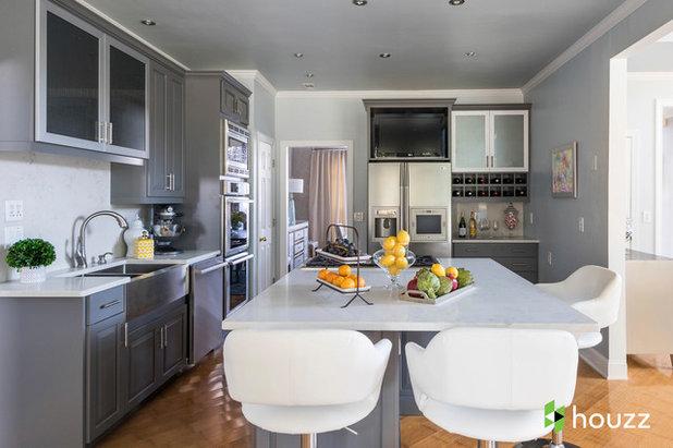Transitional Kitchen by Rachel Oliver Design, LLC