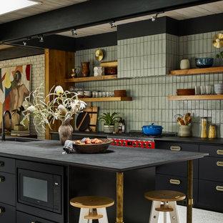 Design ideas for a midcentury kitchen in Atlanta.