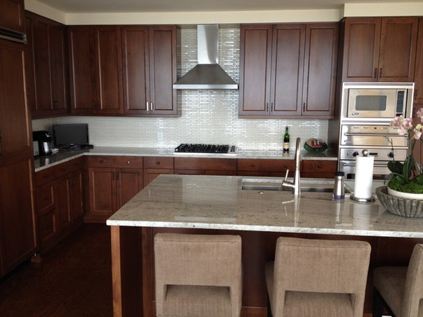 Transitional Kitchen by Specialty Tile Products