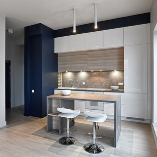 Inspiration for a contemporary kitchen in Glasgow.