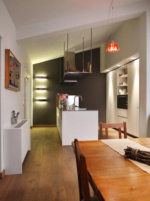 Cucina senza pensili foto e idee houzz - Cucina senza elettrodomestici ...